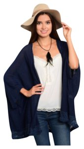 Other Crochet Embroidery Kimono Flutter Sleeve Oversized Cardigan