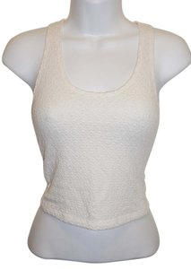 Racerback Athetic Beige Top White