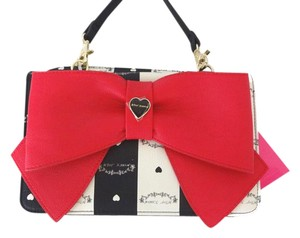 Betsey Johnson Wallet Fuchsia Bow Cross Body Bag