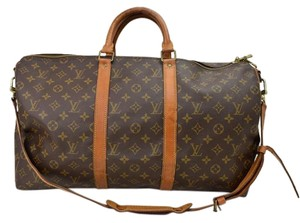 Louis Vuitton Bandouliere Keepall brown Travel Bag