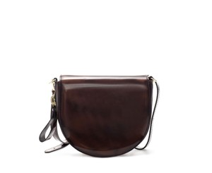 Zara Messenger Saddle Zip Dark Brown Messenger Bag