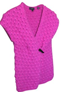 Ted Baker Crochet Knit Claw Button Hot Pink Sweater