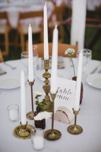 25 Birch Table Number Holders