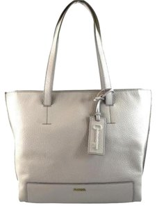 Fossil Leather Madison Grey Tote in Gray