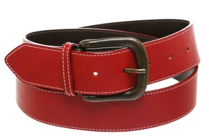 Burberry Burberry Red Leather Belt (Size 40)