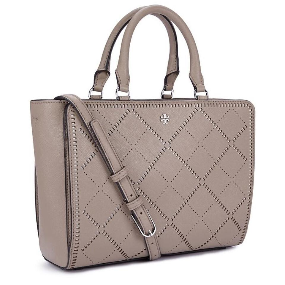 1320287cbfb Tory Burch Robinson Sale Crosshatch Small Shoulder French Gray ...