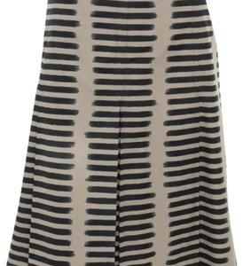 Akris Skirt Gray & Black Striped