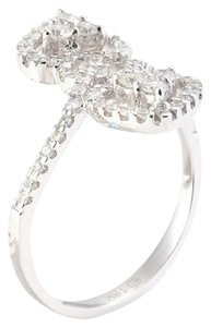 M&J 14K White Gold Diamonds Ring