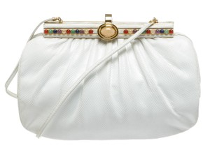 Judith Leiber White/Multicolor Clutch