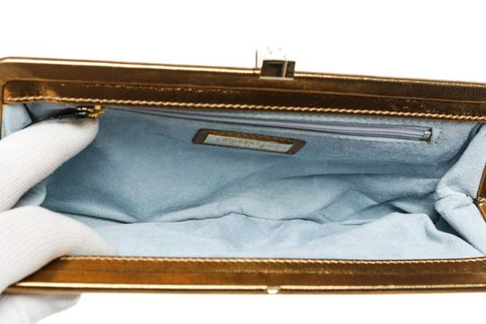Lambertson Truex Metallic Gold Clutch