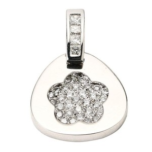 18K White Gold Diamonds Pendant