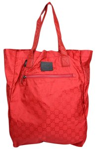Gucci Nylon Tote in Red 6470
