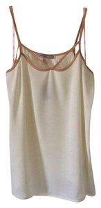 Forever 21 Top Cream with apricot trim