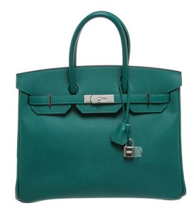 Herms Satchel in Green
