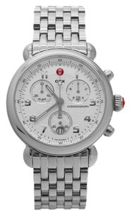 Michele NWT Michele CSX Silver Stainless Chronograph Watch MWW03D000003