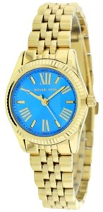 Michael Kors Michael Kors Lexington MK3271 Gold Stainless Turquoise Blue Dial Watch