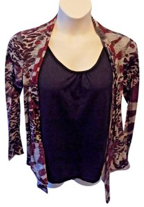 Notations Pullover Stretchy Top Multi-Color