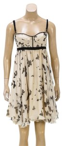 Dolce&Gabbana short dress Cream/Black on Tradesy