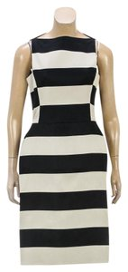 Lanvin short dress Black/Cream on Tradesy