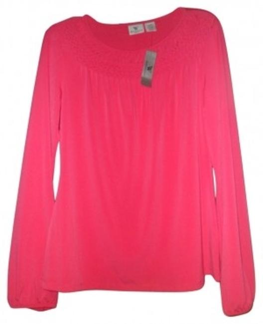Preload https://item5.tradesy.com/images/worthington-lively-pink-blouse-size-14-l-19599-0-0.jpg?width=400&height=650