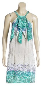 BCBGMAXAZRIA short dress White/Multicolor on Tradesy