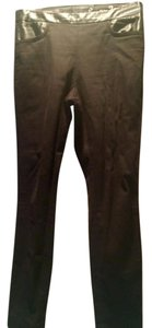 J.Crew Vegan Leather Waist Skinny Pants Black