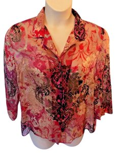 Alfred Dunner Top Multi-Colored