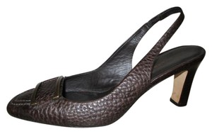 Banana Republic Leather Sling Back brown Pumps
