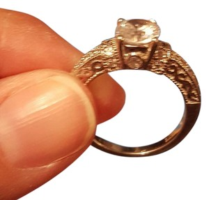 Stunning Sterling Silver Engagement Ring with Cubic Zirconia Stone