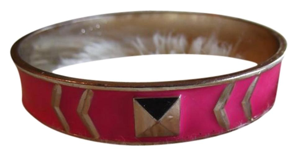 Other Pink And Gold Tone Slip On Braclet
