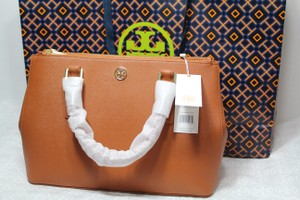 Tory Burch Crossbody Fall Robinson Tote in Luggage tan