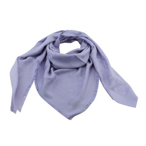 Louis Vuitton Brand New Authentic M70110 LV Lilac Monogram Square Shawl