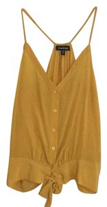 bebe Top Mustard yellow/gold