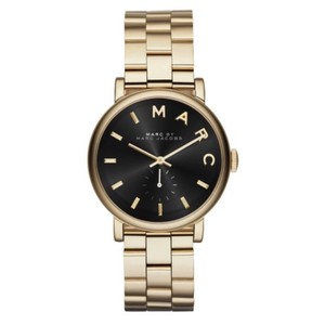 Marc by Marc Jacobs NWT Baker Black & Gold Tone Stainless Steel Bracelet Watch