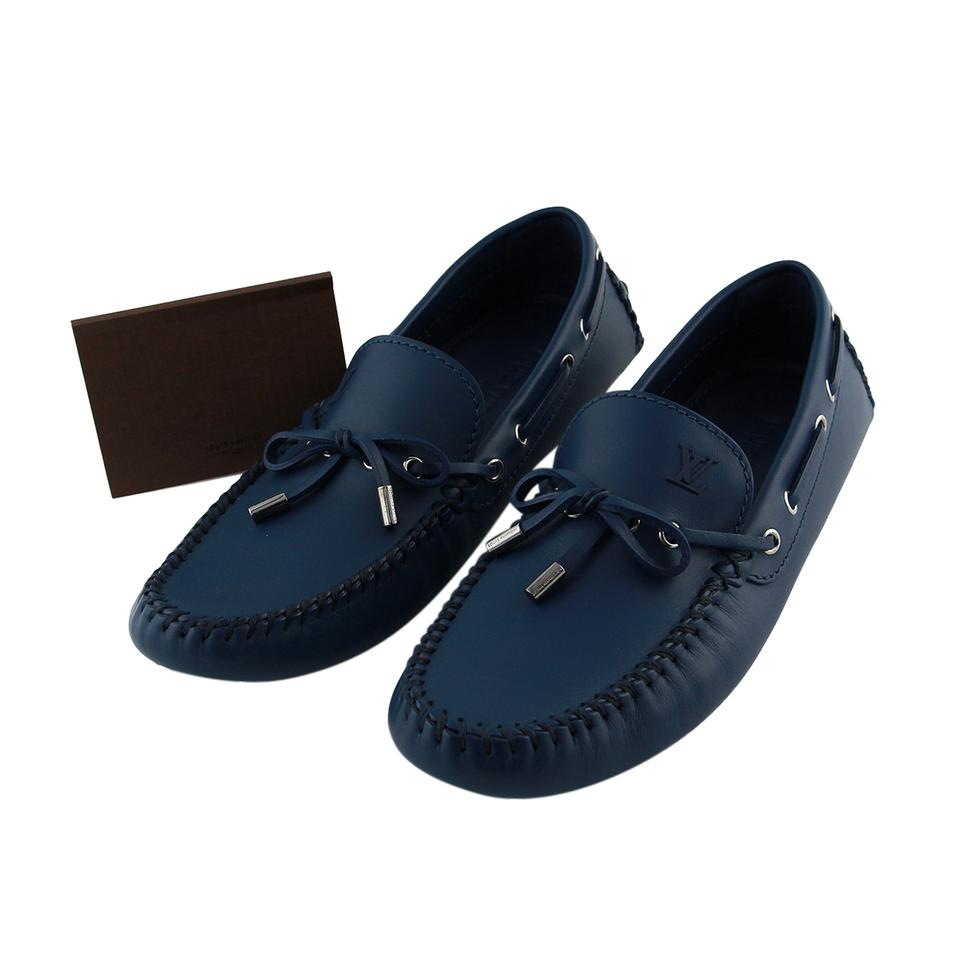 76cc1d350aef Louis Vuitton Men Lv Moccasins Men Drivers Men Moccasins Blue Flats Image 0  ...