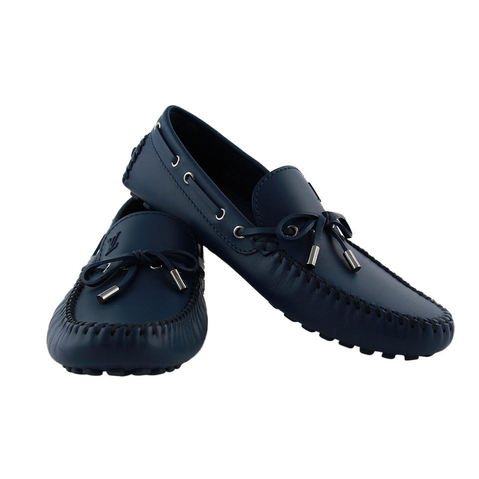 6a794c80dc20 Louis Vuitton Blue Lv Men Arizona Moccasins   Drivers Eu 42.5 Lv 8.5 Flats  Size US 9.5 Regular (M