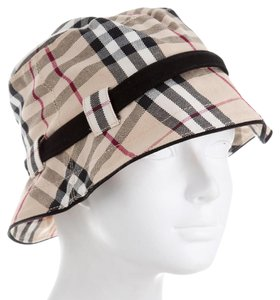 Burberry Red, Multicolor Burberry Nova Check Bucket hat