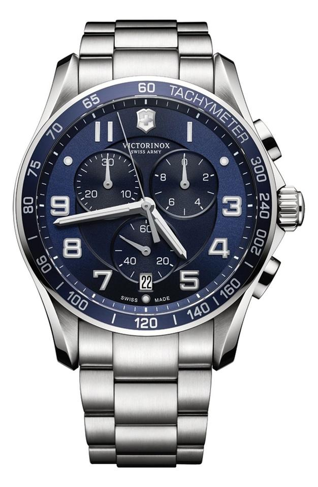 dial maverick watches chronograph men blue watch victor army victorinox inox swiss s