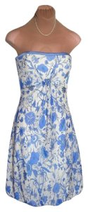 Badgley Mischka Nearly New Far Below Msrp $395 Strapless Elegant Dress