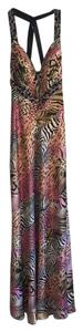 Mori Lee Prom Animal Print Full Length Dress