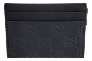 Gucci Gucci 322190 Rubber Guccissima Leather Card Case