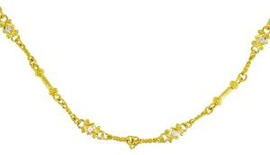 Judith Ripka Judith Ripka 18K Yellow Gold Diamond Link Necklace 17.6 Grams 16