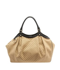 Gucci Sukey Satchel in Beige & Brown