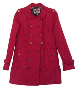 Juicy Couture Trench Buttons Trench Coat