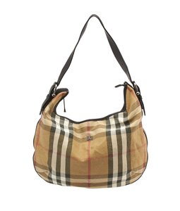 Burberry Multi-color House Check Hobo Bag
