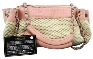 Chanel Vintage Leather One Shoulder Tote in Pink Ivory