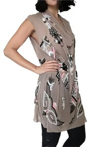 AllSaints Beaded Art Deco Silk Dress