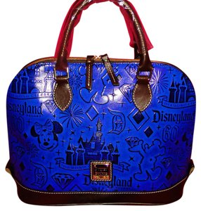 Dooney & Bourke Disneyland 60th Anniversary Leather Satchel in Blue