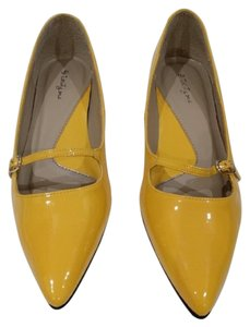 Forever 21 Strap Yellow Flats