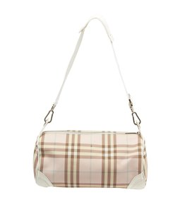 Burberry House Check Coated Canvas Leather Shoulder Bag